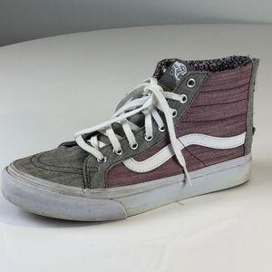Vans Sk8-Hi Shoes in Grey/Purple - Size 7.0